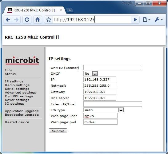 RRC Config | Remoterig com